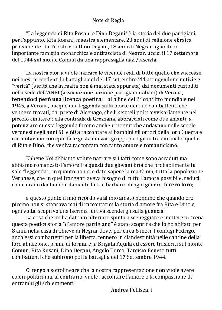 Note di Regia RITA E DINO